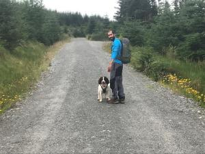 Max and I posing for a photo on the access road
